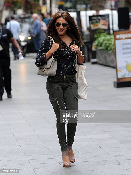 Michelle Keegan heads to the Global Offices in Leicester Square on September 7, 2016 in London, England.