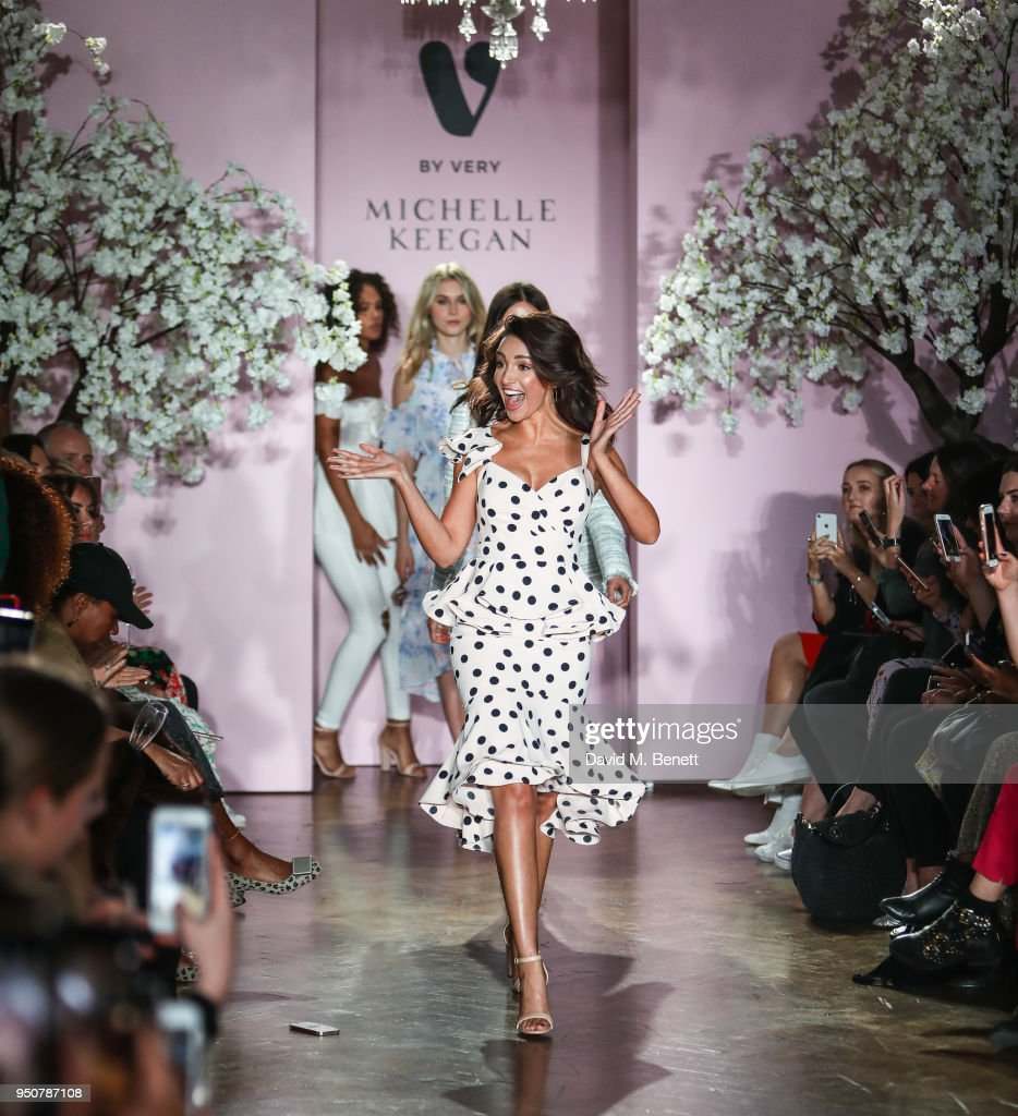 Michelle Keegan on the catwalk during her first show for Very.co.uk at One Marylebone on April 24, 2018 in London, England.
