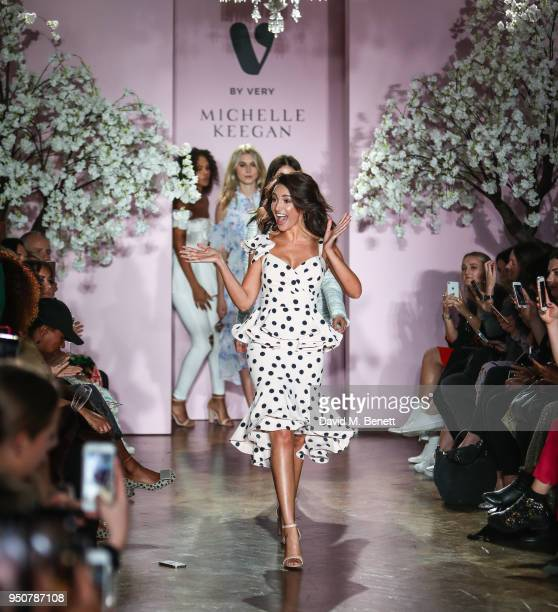 Michelle Keegan on the catwalk during her first show for Verycouk at One Marylebone on April 24 2018 in London England