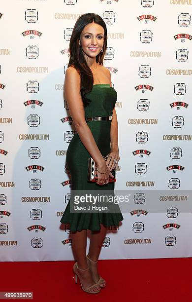 Michelle Keegan poses for a photo during the Cosmopolitan Ultimate Women Of The Year Awards at One Mayfair on December 2 2015 in London England