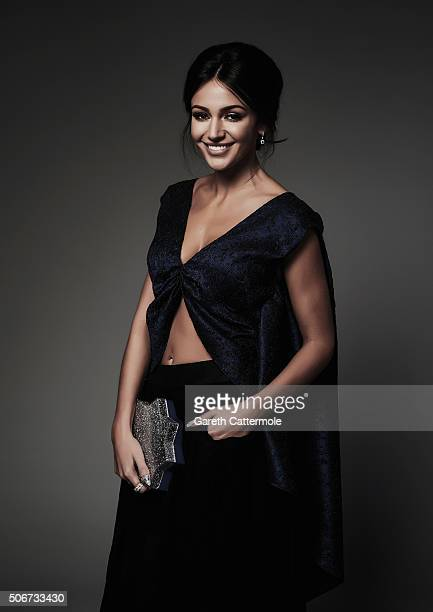 Michelle Keegan poses in the Portrait Studio during the 21st National Television Awards at The O2 Arena on January 20 2016 in London England