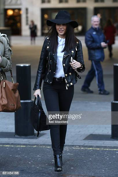 Michelle Keegan seen at BBC Radio One on January 11 2017 in London England