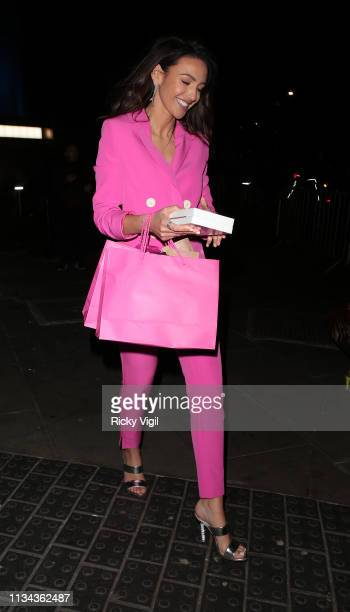 Michelle Keegan seen attending The Global Awards at Hammersmith Apollo on March 07 2019 in London England