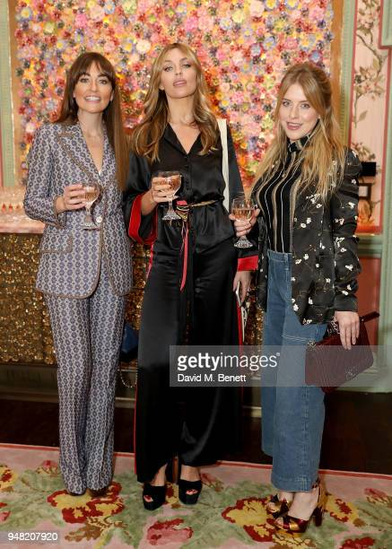 Michelle Kennedy Abbey Clancy and Chloe Moyse attend Peanut's 1st birthday party at Annabel's on April 18 2018 in London England