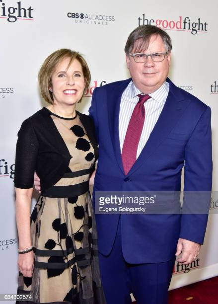 Michelle King and Robert King attend The Good Fight world premiere at Jazz at Lincoln Center on February 8 2017 in New York City