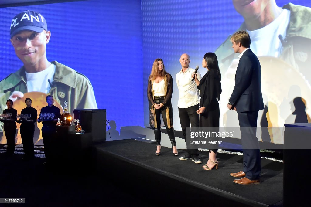 Michelle Kremer, Justin Portman, Valerie Loh and Steele Cooper attend LOUIS XIII Cognac Presents '100 Years' - The Song We'll Only Hear #IfWeCare - by Pharrell Williams at Goya Studios on April 17, 2018 in Los Angeles, California.