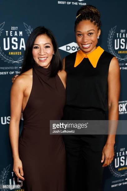 Michelle Kwan and Allyson Felix attends the 2017 Team USA Awards on November 29 2017 in Westwood California