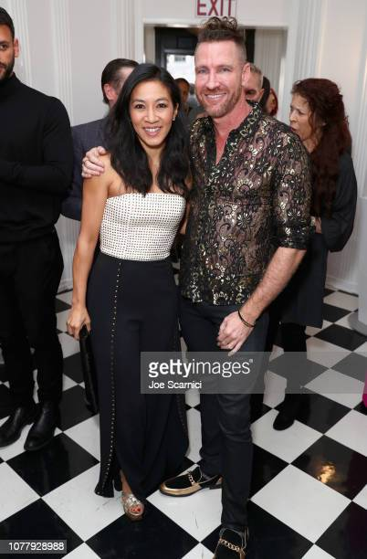 Michelle Kwan and Charley Walters attend The 6th Annual 'Gold Meets Golden' Brunch hosted by Nicole Kidman and Nadia Comaneci and presented by...