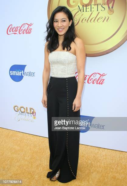 Michelle Kwan attends the 6th annual Gold Meets Golden party hosted by Nicole Kidman and Nadia Comaneci at The House on Sunset on January 5 2019 in...