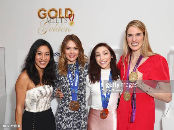 Michelle Kwan Cassie Sharpe Meryl Davis and Missy Franklin attend The 6th Annual 'Gold Meets Golden' Brunch hosted by Nicole Kidman and Nadia...