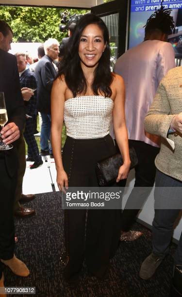 Michelle Kwan celebrates the 6th annual Gold Meets Golden with vibrant J sparkling wine at The House on Sunset on January 5 2019 in West Hollywood...