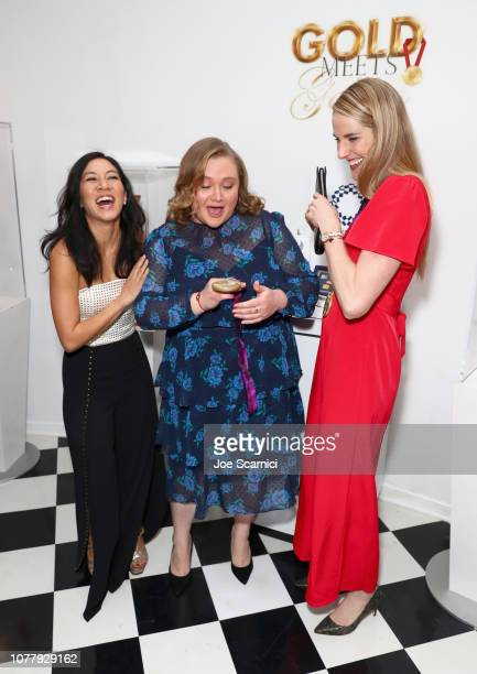 Michelle Kwan Danielle Macdonald and Missy Franklin attend The 6th Annual 'Gold Meets Golden' Brunch hosted by Nicole Kidman and Nadia Comaneci and...