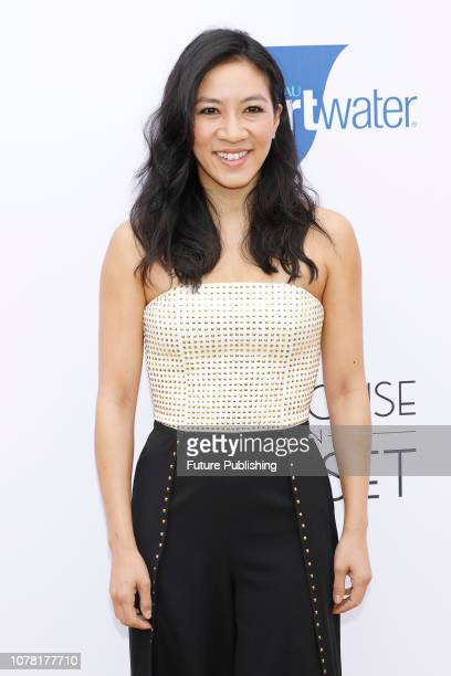 Michelle Kwan is photographed arriving at the 6th annual Gold Meets Golden party hosted by Nicole Kidman and Nadia Comaneci at The House on Sunset on...