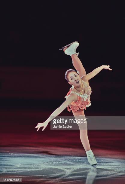 Michelle Kwan of the United States performs a Camel spin during the Parade of Champions at the ISU World Figure Skating Championships on 24th March...