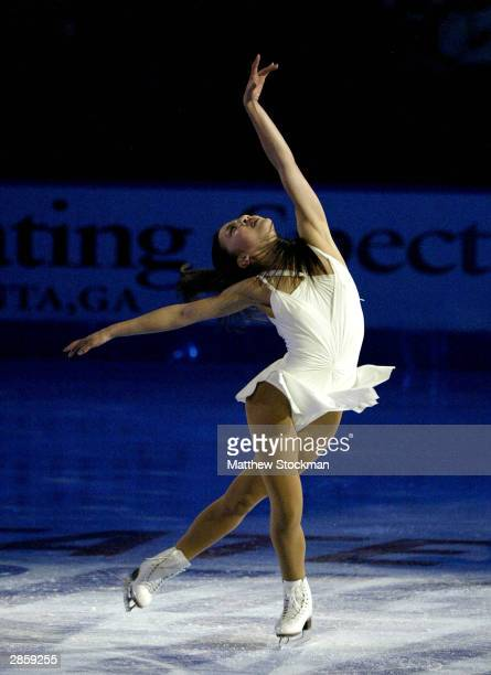 Michelle Kwan participates in the Chevy Skating Spectacular during the State Farm US Figure Skating Championships January 11 2004 at Philips Arena in...