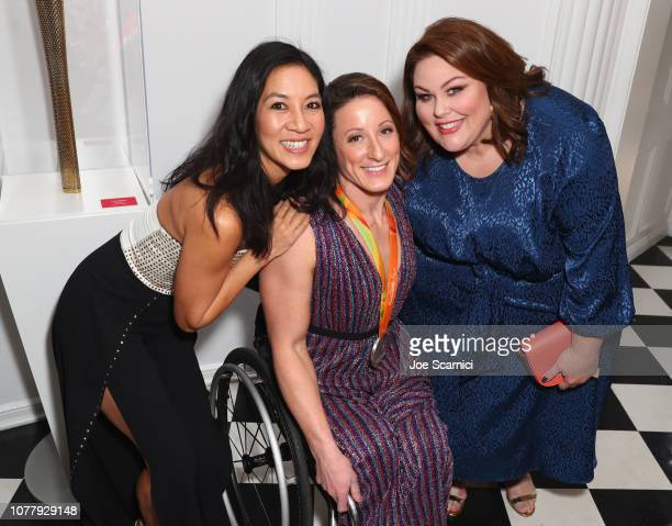 Michelle Kwan Tatyana McFadden and Chrissy Metz attend The 6th Annual 'Gold Meets Golden' Brunch hosted by Nicole Kidman and Nadia Comaneci and...