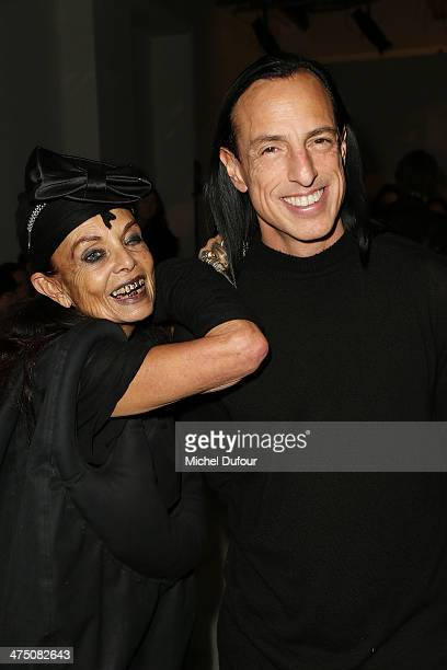 Michelle Lamy and Rick Owens attend the Gareth Pugh show as part of the Paris Fashion Week Womenswear Fall/Winter 20142015 on February 26 2014 in...