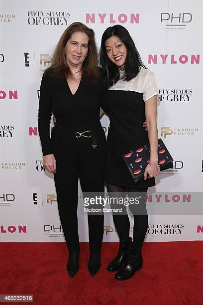 Michelle Lee Editor in Chief of NYLON attends E Fashion Police and NYLON kickoff New York Fashion Week with a 50 Shades of Fashion event in...