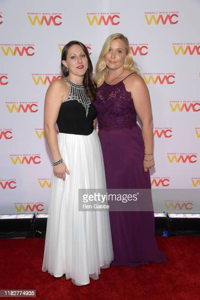 Michelle Licata and Virginia Giuffre attend the 2019 Women's Media Awards at Mandarin Oriental on October 22 2019 in New York City