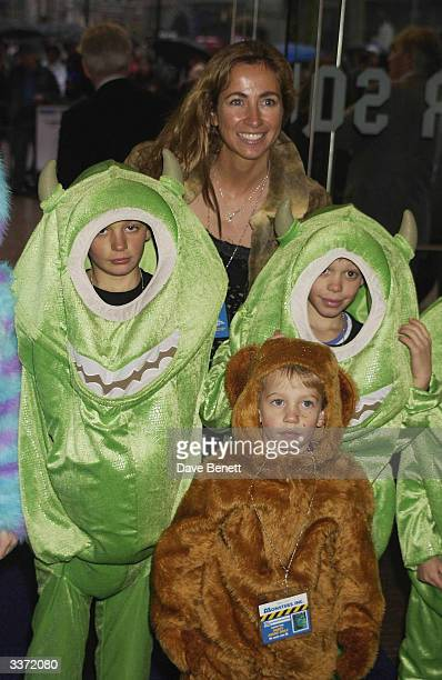Michelle Lineker and her sons at the UK premiere of Disney Pixar's 'Monsters Inc' held at the Odeon cinema Leicester Square on 27th January 2002 in...