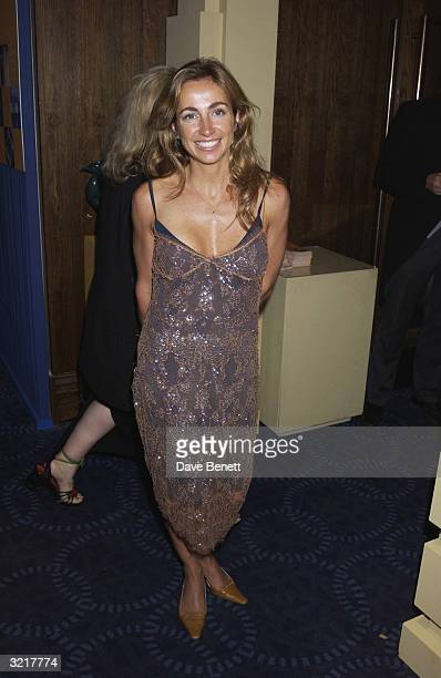 Michelle Lineker at the Grosvenor House Antiques Fair Charity Gala The patron was Elizabeth Hurley and guest of honour Cherie Blair on 13th June 2002...