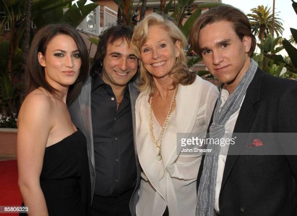 Michelle Lodge, Director Joshua Newton, Brenda Siemer-Scheider and Christian Scheider attend Smiles from the Stars: A Tribute to the Life and Work of...
