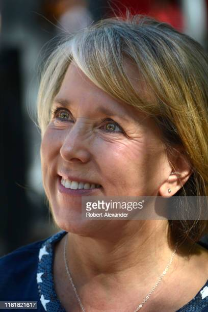 Michelle Lujan Grisham the governor of New Mexico talks with supporters at a Fourth of July event in Santa Fe New Mexico Lujan Grisham a Democrat was...