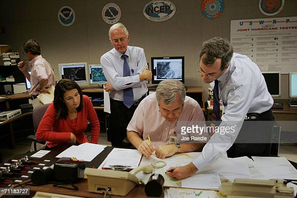 Michelle Mainelli hurricane specialist Max Mayfield National Hurricane Center director Richard Pasch hurricane specialist and Ed Rappaport deputy...