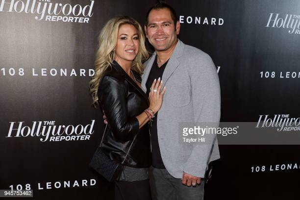 Michelle Mangan and Johnny Damon attend the 2018 The Hollywood Reporter's 35 Most Powerful People In Media at The Pool on April 12 2018 in New York...
