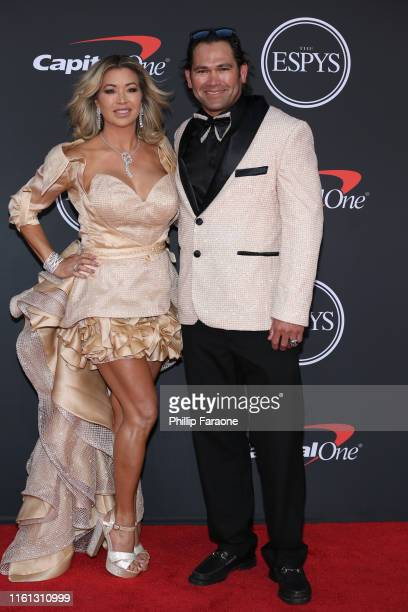 Michelle Mangan and Johnny Damon attend The 2019 ESPYs at Microsoft Theater on July 10 2019 in Los Angeles California