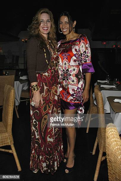 Michelle Marie Heinemann and Shamin Abas attend MICHELLE MARIE Art Exhibition After Party at Le Flirt on July 27 2007 in East Hampton NY
