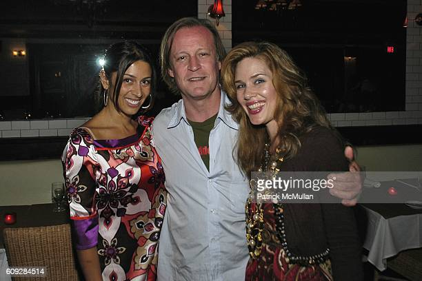 Michelle Marie Heinemann Patrick McMullan and Shamin Abas attend MICHELLE MARIE Art Exhibition After Party at Le Flirt on July 27 2007 in East...