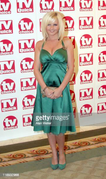 Michelle Marsh during TV Quick Awards TV Choice Awards Inside Arrivals at The Dorchester in London Great Britain
