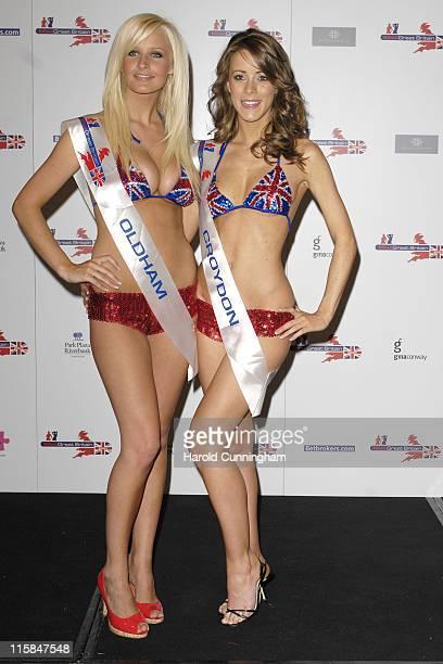 Michelle Marsh Miss Oldham and Nicola Tappenden Miss Croydon