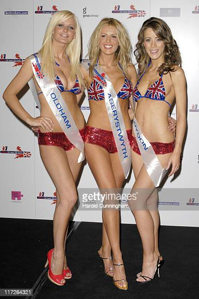 Michelle Marsh Miss Oldham Claire Evans Miss Aberystwyth and Nicola Tappenden Miss Croydon