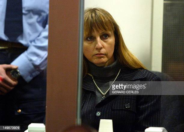 Michelle Martin former wife and alleged accomplice of convicted child rapist Marc Dutroux is seen in the dock of Arlon Azzises court on the second...
