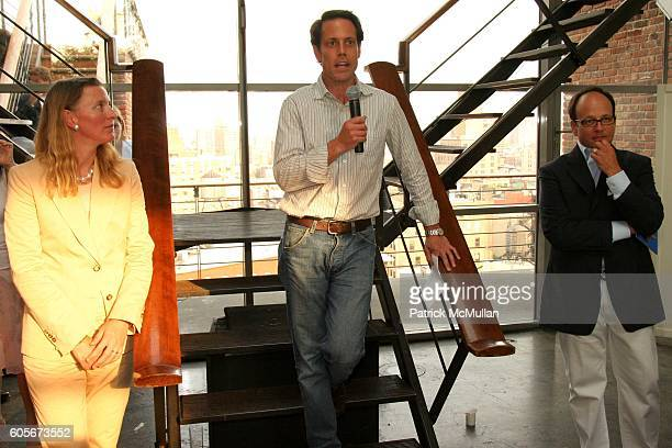 Michelle Martin Ken Pilot and Arnie Cohen attend The Launch of Martin Osa at Sky Studio on July 19 2006 in New York City