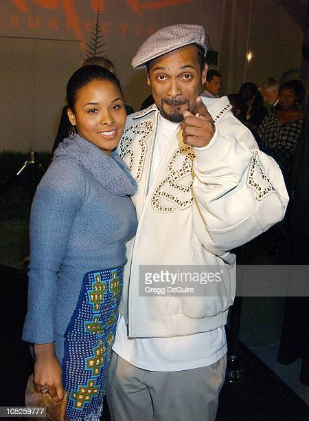 Michelle McKane and Mike Epps during 'Tupac Resurrection' World Premiere at Cinerama Dome in Hollywood California United States