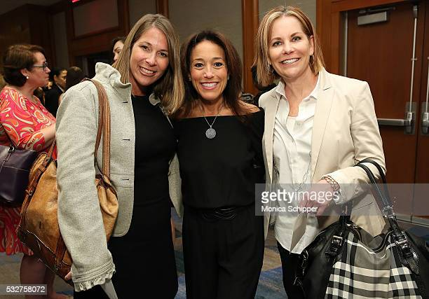 Michelle McLaughlin Susie Lecker and Gina Collins attend the Bottomless Closet 17th Anniversary Spring Luncheon on May 19 2016 in New York City