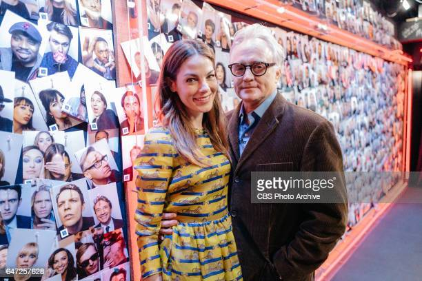Michelle Monaghan and Bradley Whitford backstage during 'The Late Late Show with James Corden' Tuesday February 28 2017 On The CBS Television Network