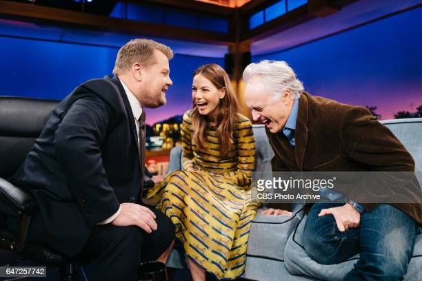 Michelle Monaghan and Bradley Whitford chat with James Corden during 'The Late Late Show with James Corden' Tuesday February 28 2017 On The CBS...