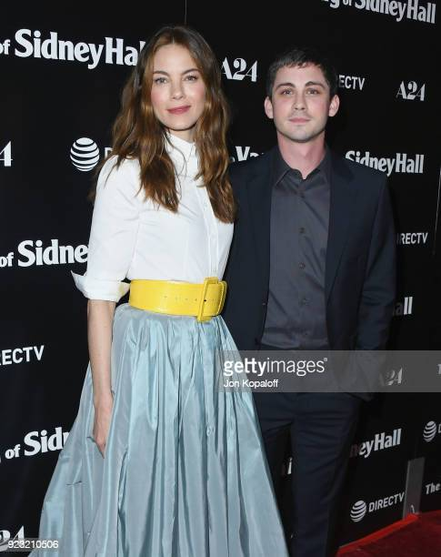 Michelle Monaghan and Logan Lerman attend the Los Angeles Premiere 'The Vanishing Of Sidney Hall' at ArcLight Hollywood on February 22 2018 in...