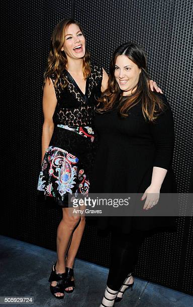 Michelle Monaghan and Mary Katrantzou attend the MATCHESFASHIONCOM and Mary Katrantzou Cocktail Party to Celebrate an Exclusive Collection of A to Z...
