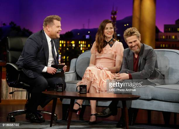 Michelle Monaghan and Willem Dafoe chat with James Corden during 'The Late Late Show with James Corden' Tuesday February 6 2018 On The CBS Television...