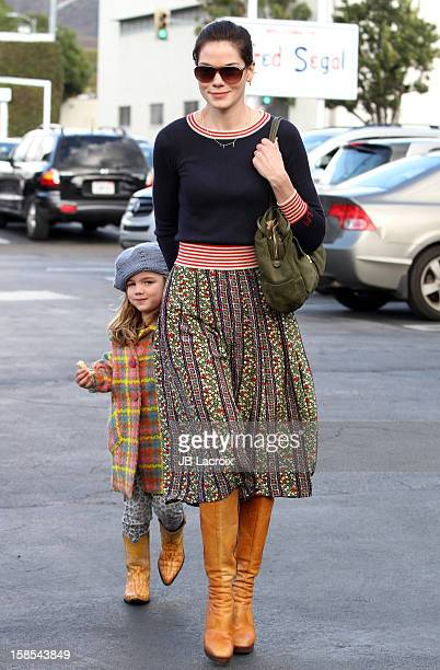 Michelle Monaghan and Willow Katherine White are seen shopping on December 18 2012 in Los Angeles California