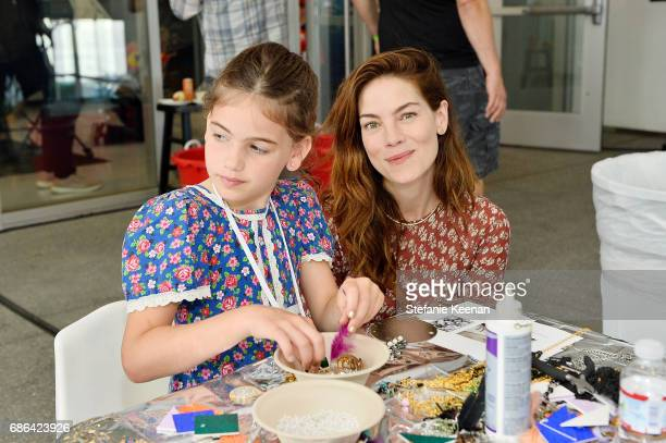 Michelle Monaghan and Willow Katherine White attend Hammer Museum KAMP 2017 on May 21 2017 in Los Angeles California