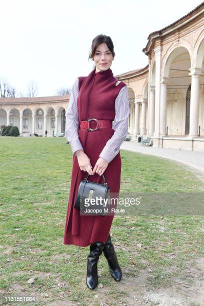 Michelle Monaghan attend the Salvatore Ferragamo show during Milan Fashion Week Autumn/Winter 2019/20 on February 23 2019 in Milan Italy