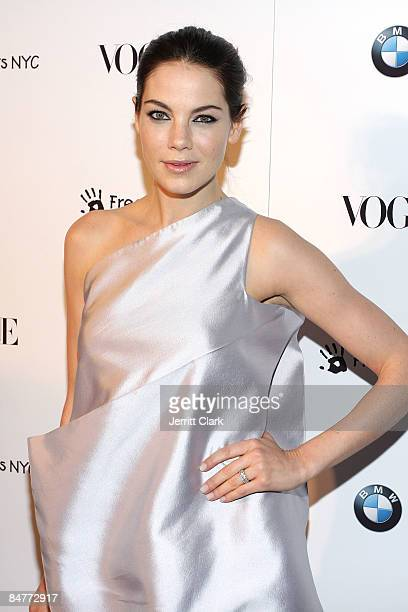 Michelle Monaghan attends a charity benefit cocktail party hosted by BMW Vogue on February 12 2009 in New York City