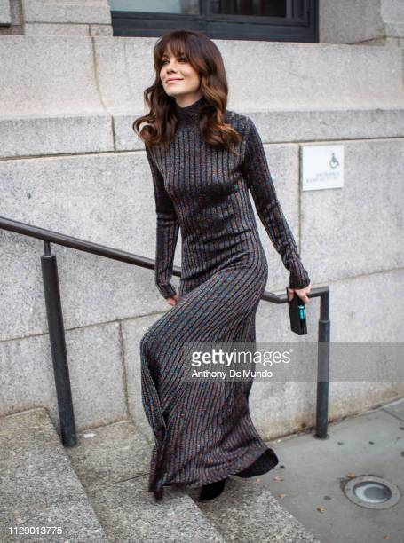 Michelle Monaghan attends the Carolina Herrera fall 2019 runway show during New York Fashion Week held at New York Historical Society 170 Central...