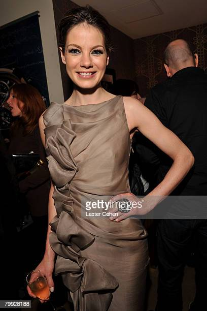 Michelle Monaghan attends the Kara Ross NY Oscar Collection Cocktail Party at the Sunset Tower Hotel on February 21 2008 in Los Angeles California